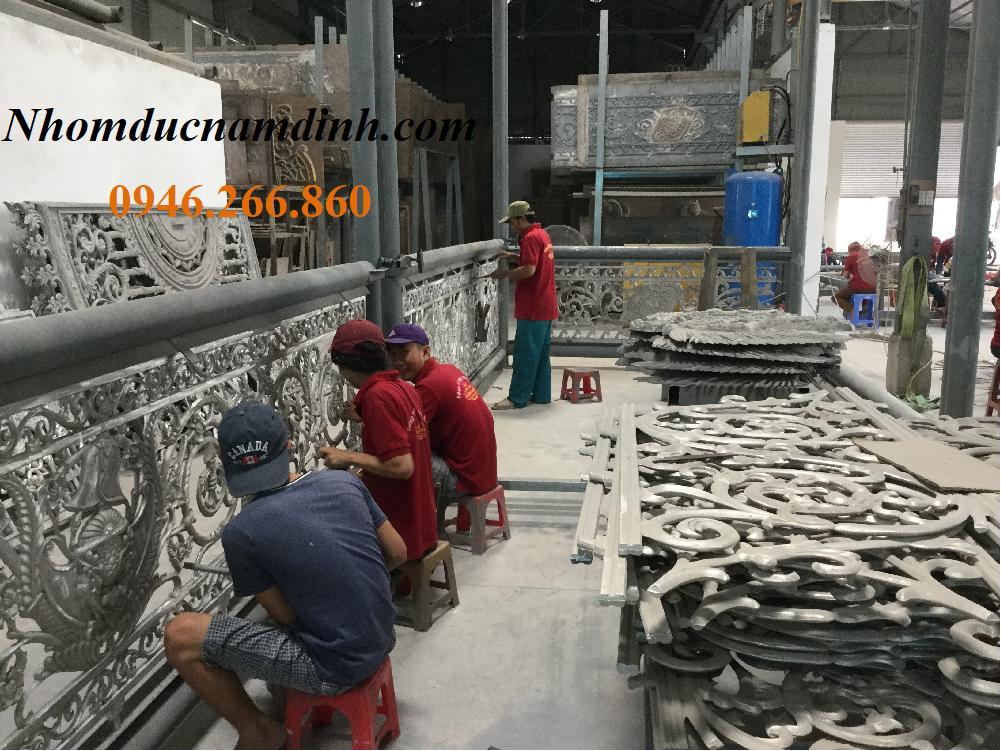 Xưởng sản xuất cổng nhôm đúc